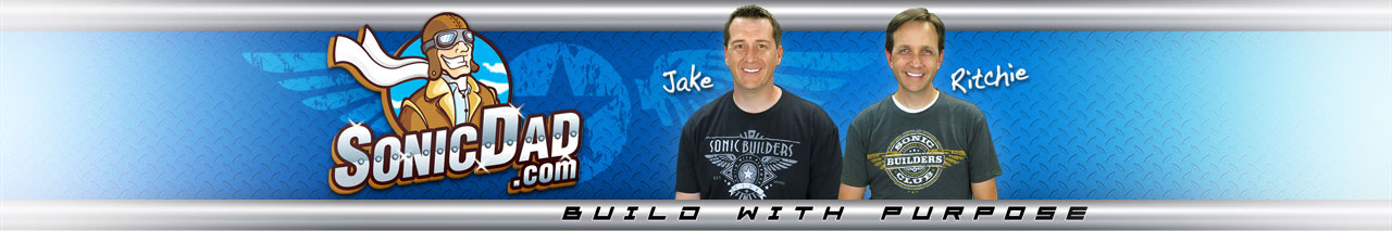 Sonic Dad Banner with Team Images and Logo