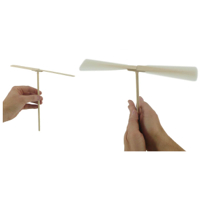 Flying Popsicle Stick Helicopter: Project #35
