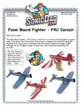 corsair foam board fighter plane. Black Bedroom Furniture Sets. Home Design Ideas